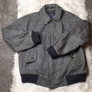 Burberry's vintage wool herringbone bomber jacket